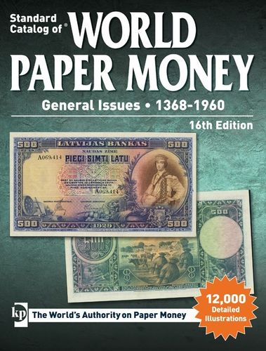 Catalogo World Paper Money General Issues 1368-1960 16 th edition