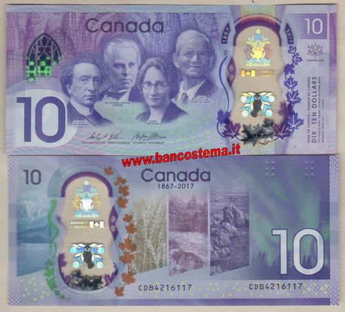 Canada 10 Dollars commemorative 2017 unc - polymer