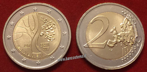 Estonia 2 euro commemorativo 2017 fdc