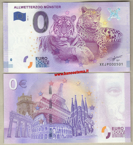 Euro 0 turistiqué Allwetterzoo Munster (Germany)  2017-2
