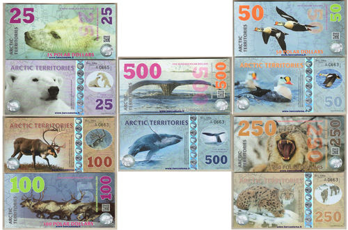 Arctic Territories set 2017- polo nord - polymer - 5 pezzi