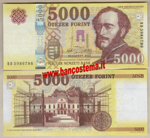 Hungary P205a 5.000 Forint 2016 (2017) unc