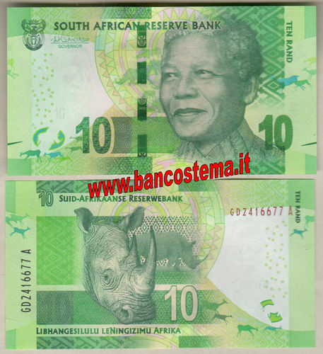South Africa 10 Rand (2017) unc