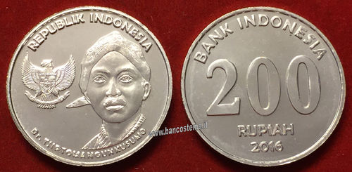 Indonesia 200 Rupees 2016 (2017) - moneta FDC