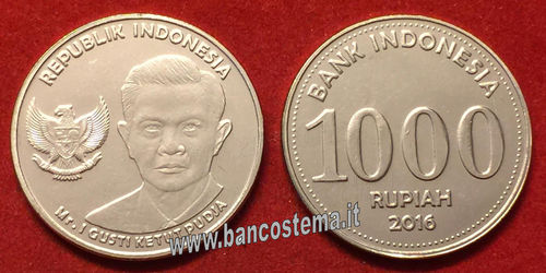 Indonesia 1.000 Rupees 2016 (2017) - moneta FDC