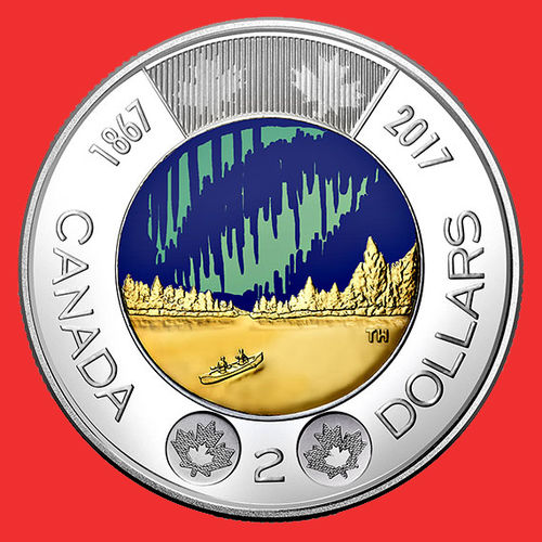 Canada 2 Dollars 2017 Colorata commemorativa