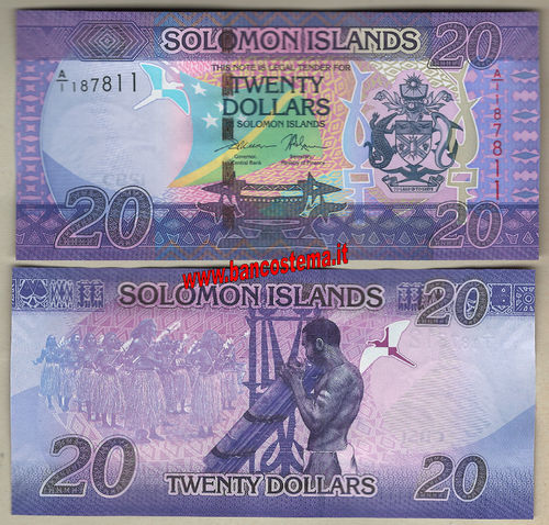 Solomon Islands 20 Dollars (2017) unc