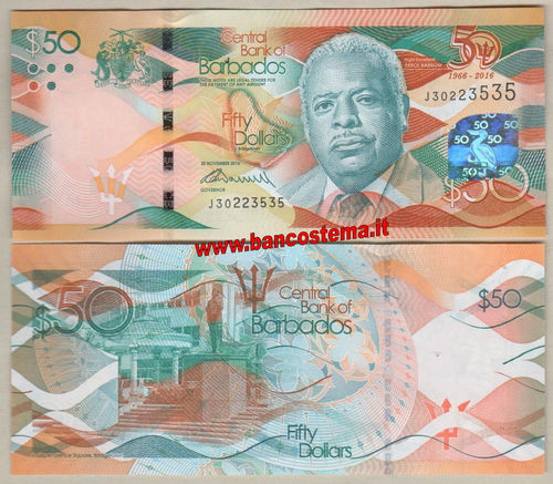 Barbados 50 dollars (2017) commemorativa unc