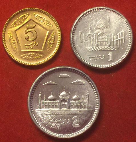 Pakistan 1-2-5 Rupees 2014/2015 FDC