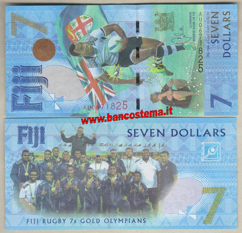 Fiji P120 7 Dollars commemorative 2017 unc polymer