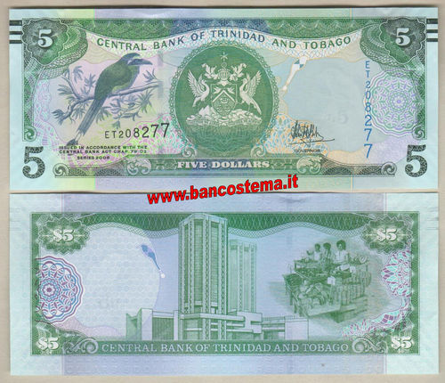 Trinidad and Tobago 5 Dollars (2017) unc