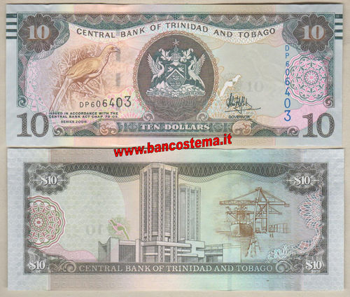 Trinidad and Tobago 10 Dollars (2017) unc