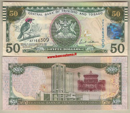 Trinidad and Tobago P50 50 Dollar 2006 (2012) unc