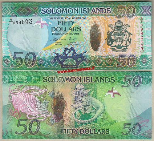 Solomon Islands P35 50 Dollars (2013) unc - Hybrid