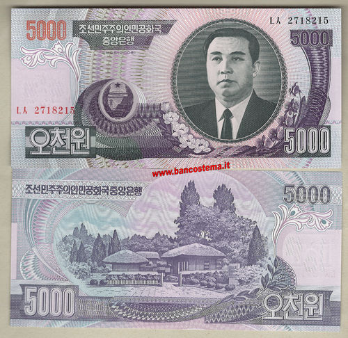 Korea North P46b 5.000 Won 1992 unc