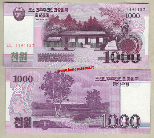 Korea North P64 1.000 Won 2008 unc