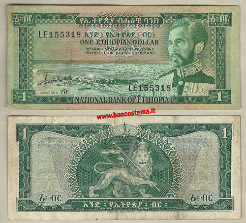 Ethiopia P25 1 dollar nd (1966) VF