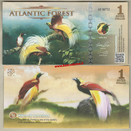 Atlantic Forest 1 Aves Dollar 2016 (2017) paper unc