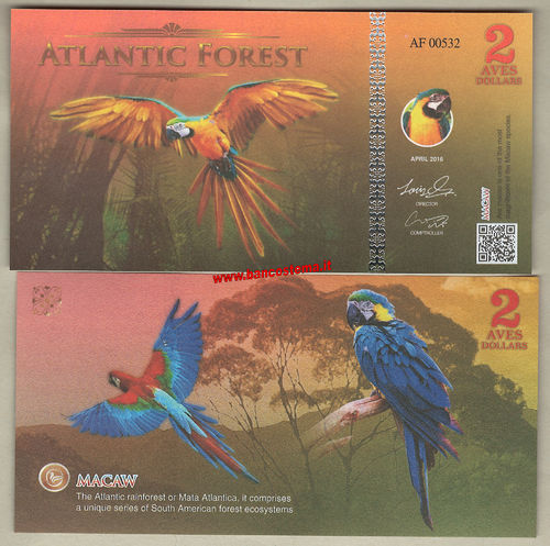 Atlantic Forest 2 Aves Dollars 2016 (2017) paper unc
