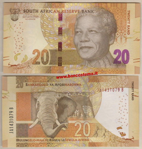 South Africa 20 Rand (2017) unc