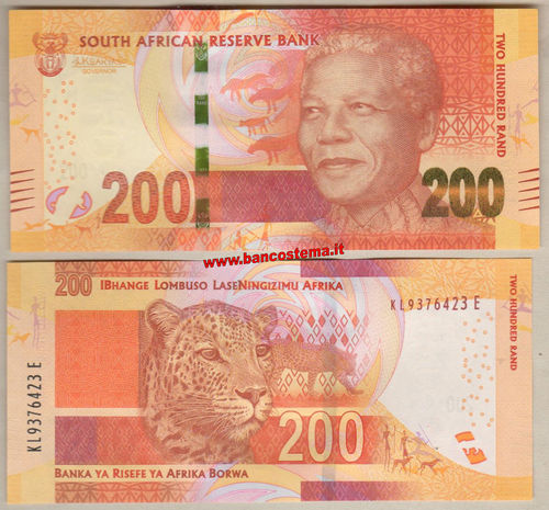 South Africa 200 Rand (2017) unc