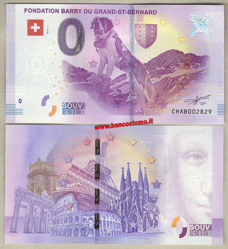 Euro 0 touristiqué Fondation Barry Du Grand-ST-Bernard (Switzerland) 2017-1