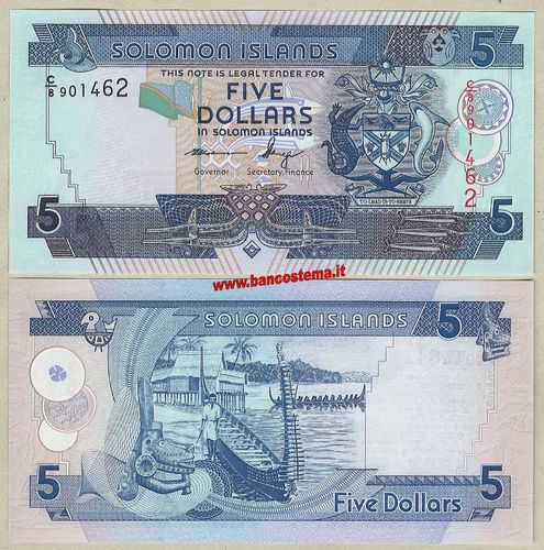 Solomon Islands 5 Dollars (2012) unc