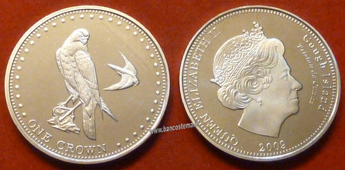 Gough Island 1 Crown 2009 unc