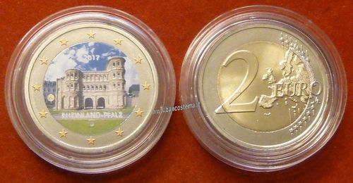 Germania 2 euro commemorativo 2017 FDC COLOR