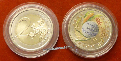 "Italia 2 euro 2004 commemorativo ""50°anniversario dell'Onu"" COLOR"