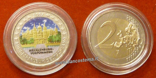 Germania 2 euro commemorativo 2007 FDC COLOR