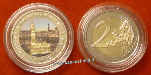 Germania 2 euro commemorativo 2008 FDC COLOR