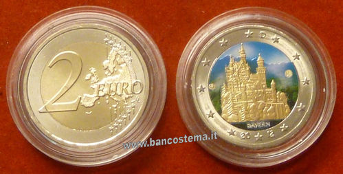 Germania 2 euro commemorativo 2012 FDC COLOR