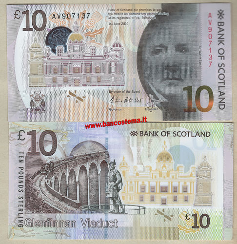 Scotland 10 Pounds 01.06.2016 (2017) BOS unc polymer