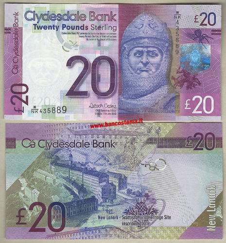 Scotland 20 Pounds CB 11.07.2015 unc