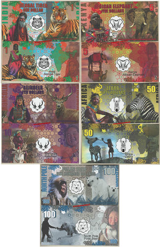Continents and States set 5 pz. 2017  plastic