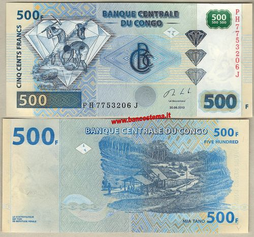 Congo Democratic Republic 500 Francs 30.06.2013 (2017) unc