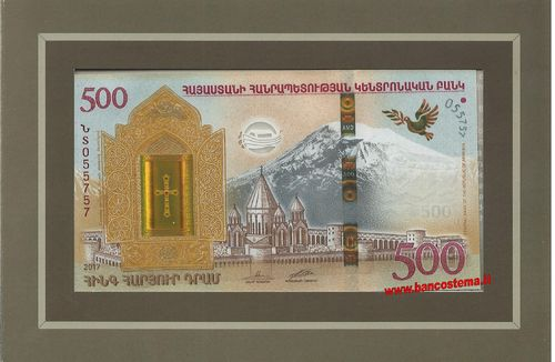 Armenia 500 Dram commemorativa 2017 unc + folder