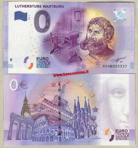 Euro 0 turistique LUTHERSTUBE WARTBURG (Germany) 2016-2 unc