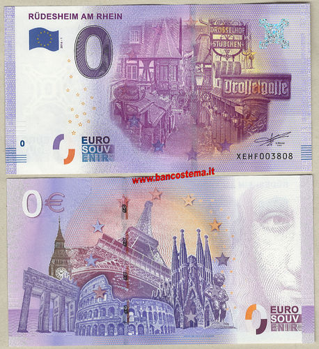 Euro 0 turistique RÜDESHEIM AM RHEIN (Germany) 2016-1 unc