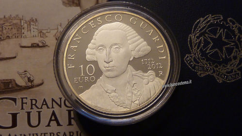 "Italia 10 euro argento commemorativa ""Francesco Guardi"" 2012  Proof"