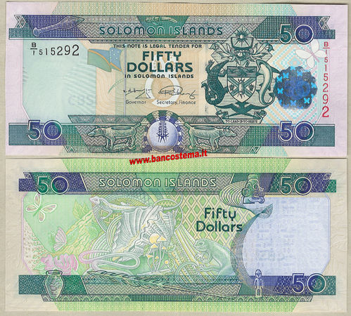 Solomon Islands P29b 50 Dollars (2010) unc
