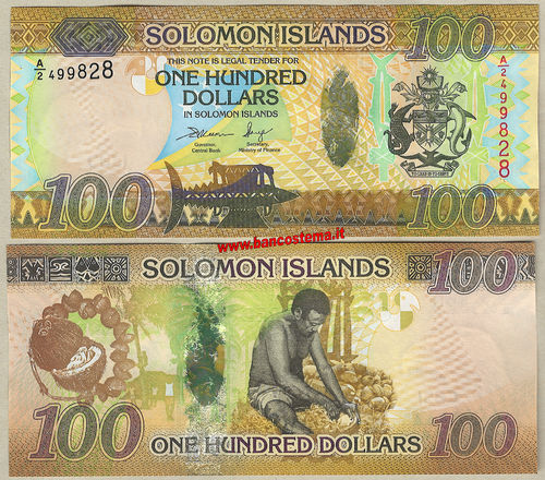 Solomon Islands P36 100 Dollars nd 2015 unc