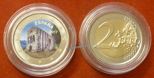 Spagna 2 euro commemorativo 2017 COLOR FDC