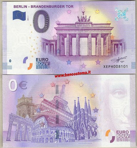 Euro 0 touristiqué BERLIN - BRANDENBURGER TOR (Germany)  2018-1 unc