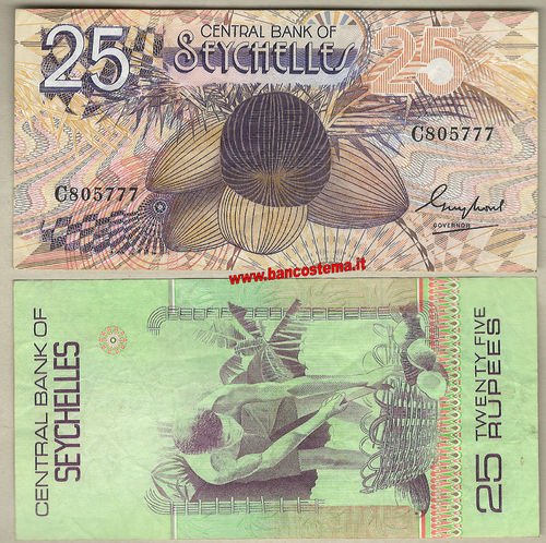 Seychelles P29 25 Rupees 1983 vf