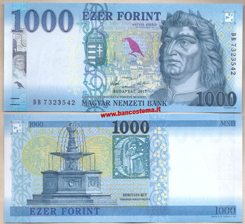 Hungary P203a 1.000 Forint 2017(2018) unc