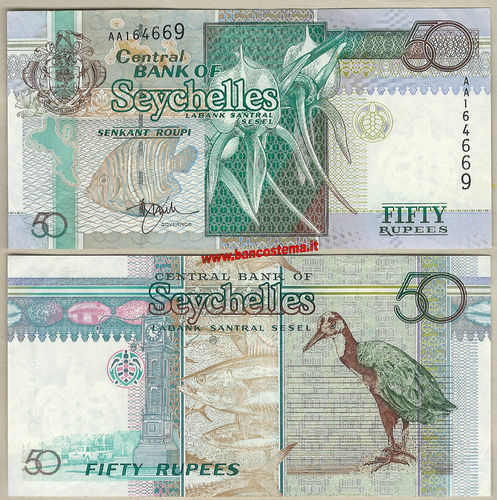 Seychelles P38 50 Rupees nd 1998 ef