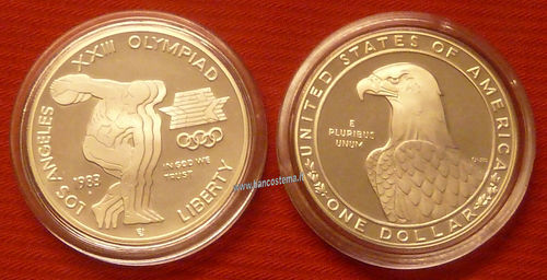 USA km209 - Stati Uniti D'America 1 dollar 1983 proof