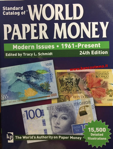 Catalogo World Paper Money Modern Issues 1961-present 24th edition